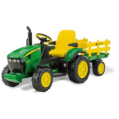 Peg-Pérego John Deere Ground Force traktor s vlečkou 12V zelená
